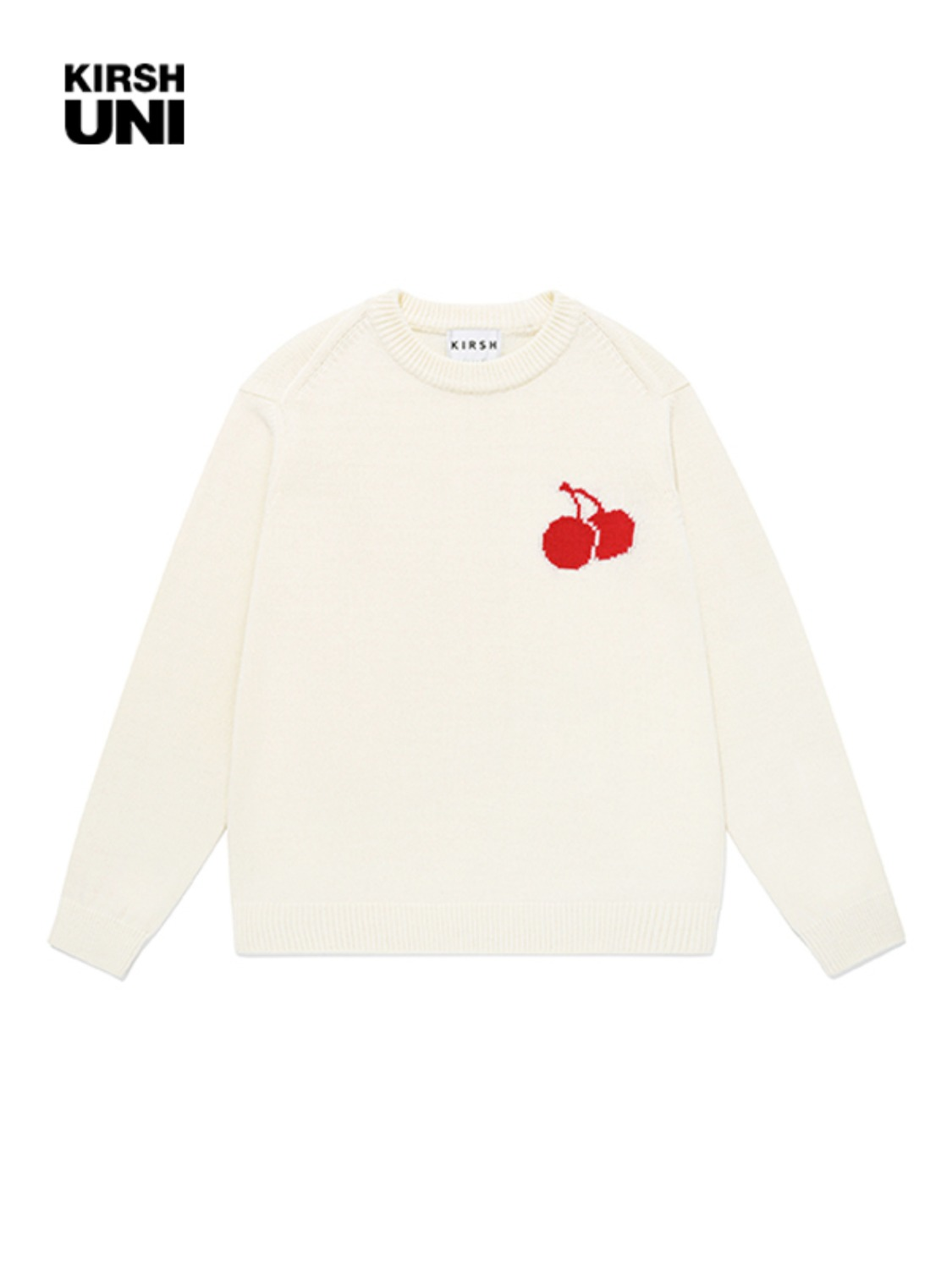UNI MIDDLE CHERRY KNIT JA [CREAM]