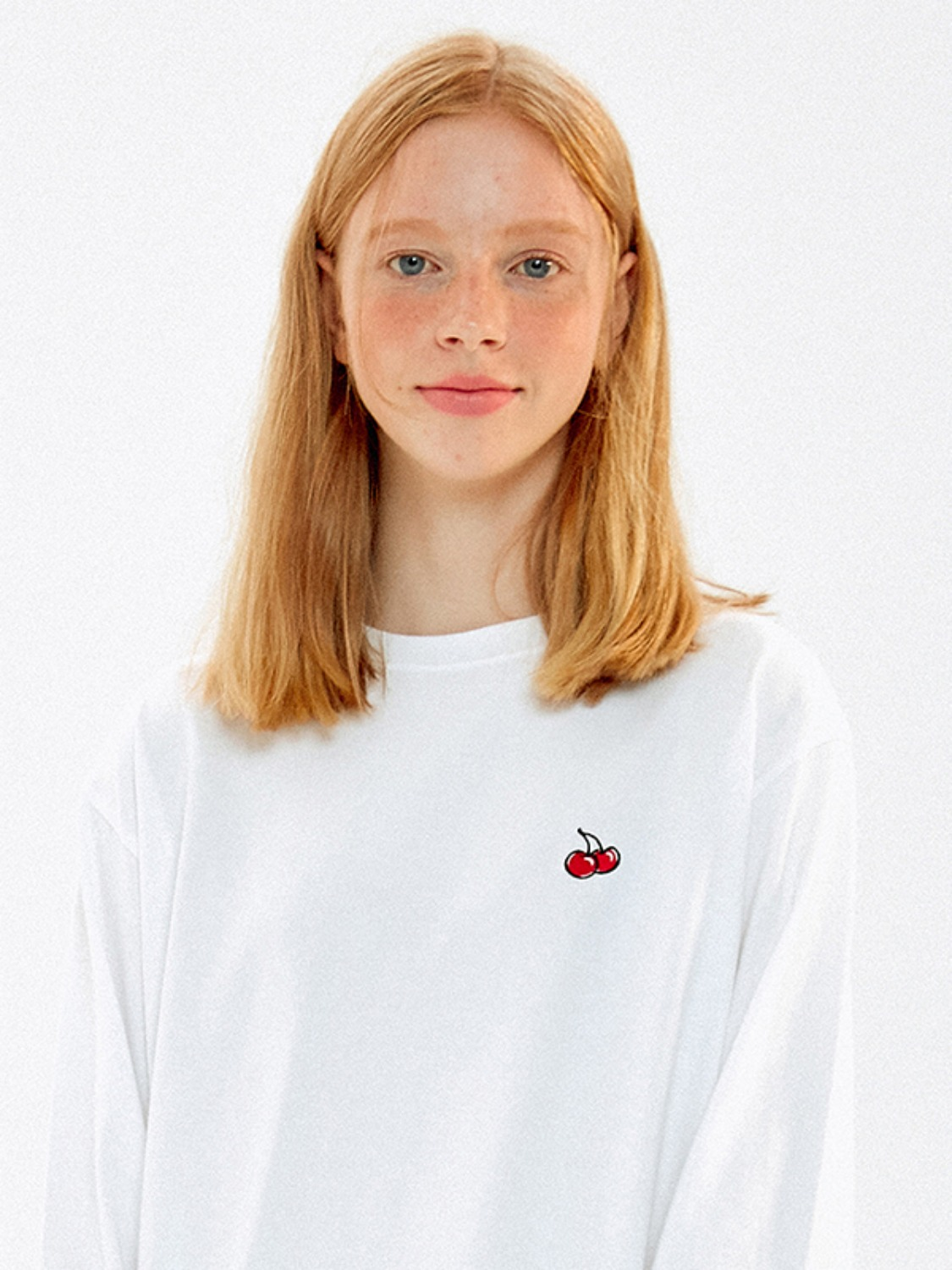 CHERRY STANDARD LONG SLEEVE T-SHIRTS JA [WHITE]