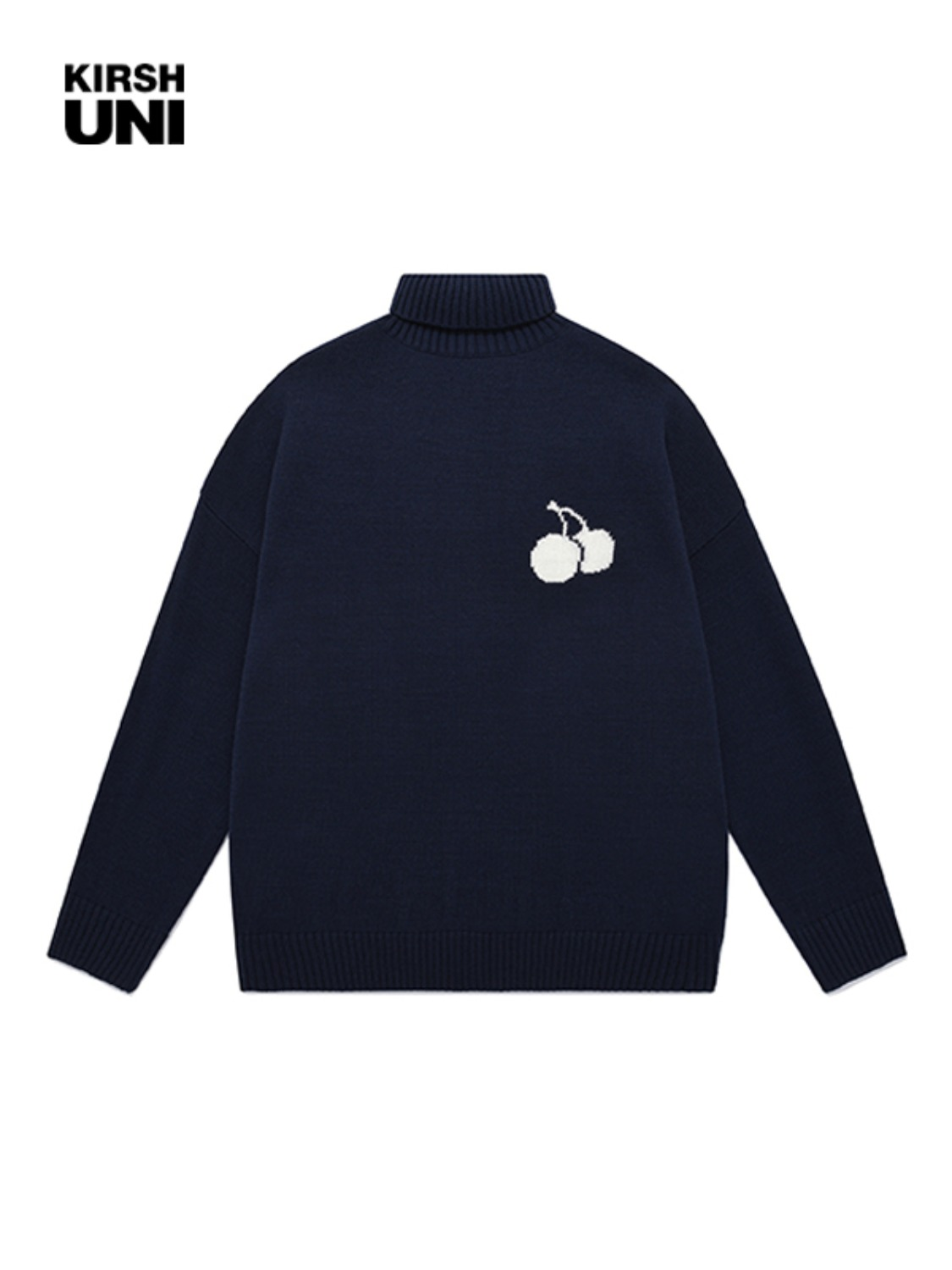 (11월 13일 예약발송)UNI MIDDLE CHERRY HIGHNECK KNIT JA [NAVY]