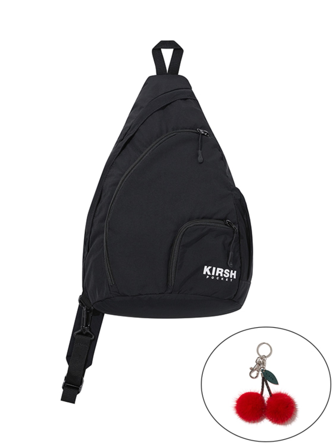 (10월 7일 예약 발송)KIRSH POCKET MULTI POCKET SLING BAG JA [BLACK]