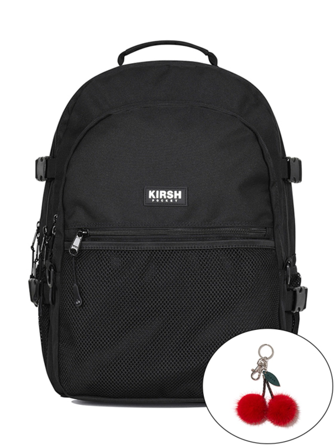 KIRSH POCKET STORAGE BACKPACK KS [BLACK]