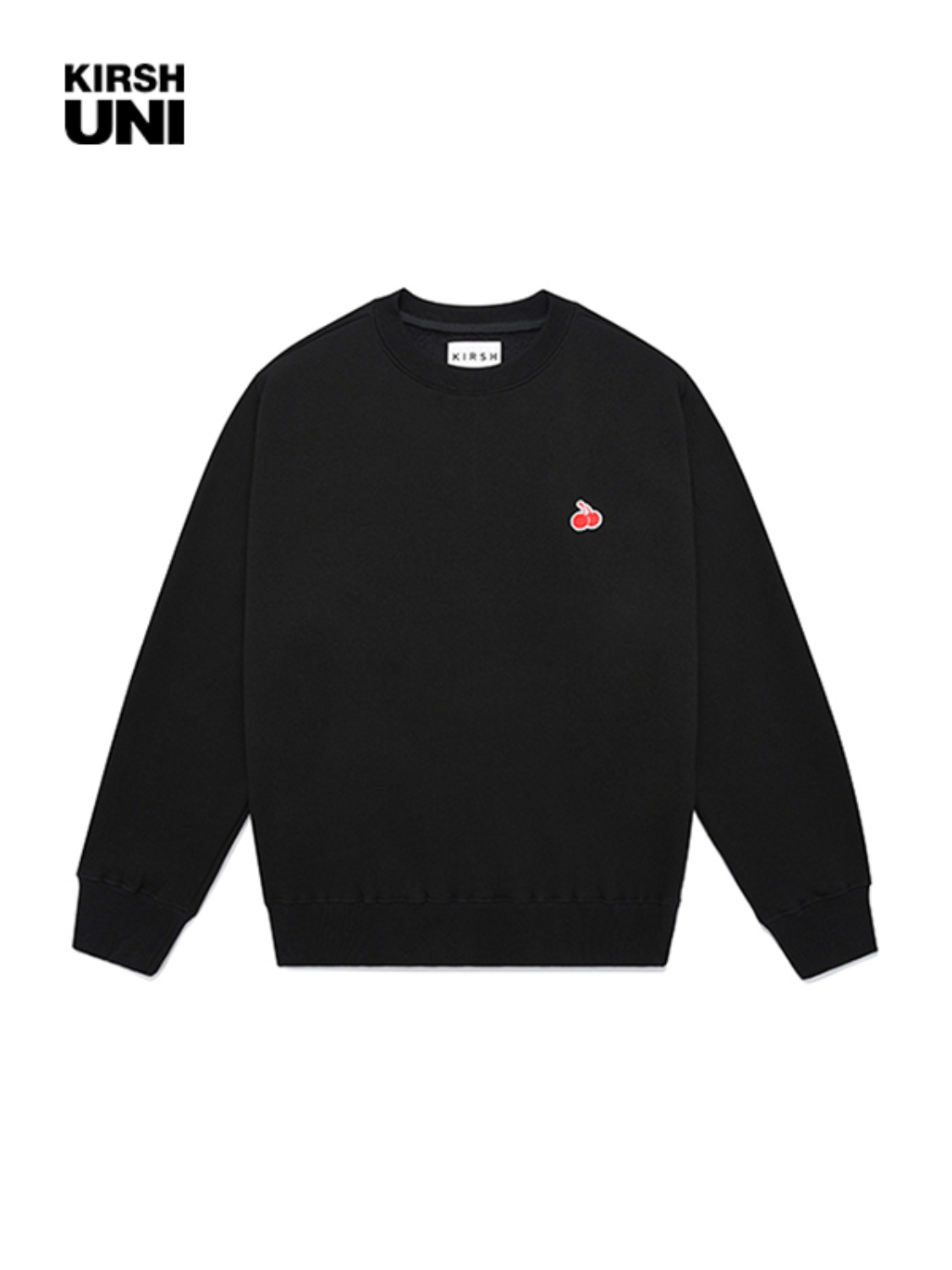 UNI SMALL CHERRY SWEATSHIRT JA [BLACK]