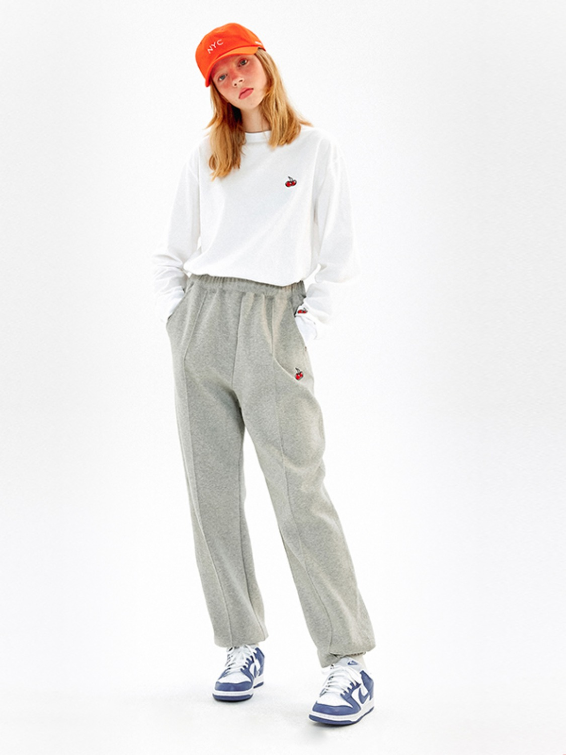 (2월 12일 예약 발송)CHERRY JOGGER LINE PANTS KS [MELANGE GRAY]