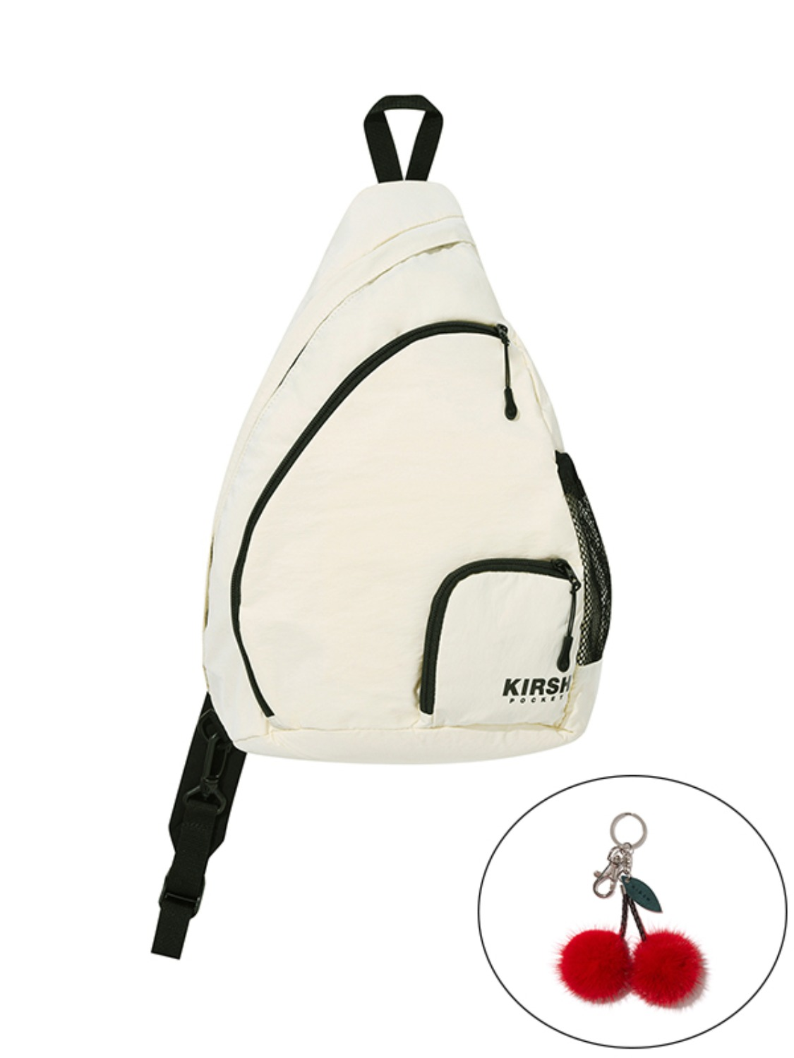 (10월 6일 예약발송)KIRSH POCKET MULTI POCKET SLING BAG JA [CREAM]
