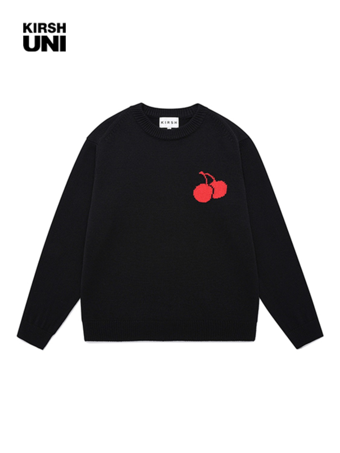 UNI MIDDLE CHERRY KNIT JA [BLACK]