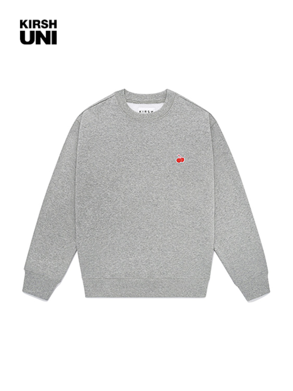 UNI SMALL CHERRY SWEATSHIRT JA [MELANGE GRAY]