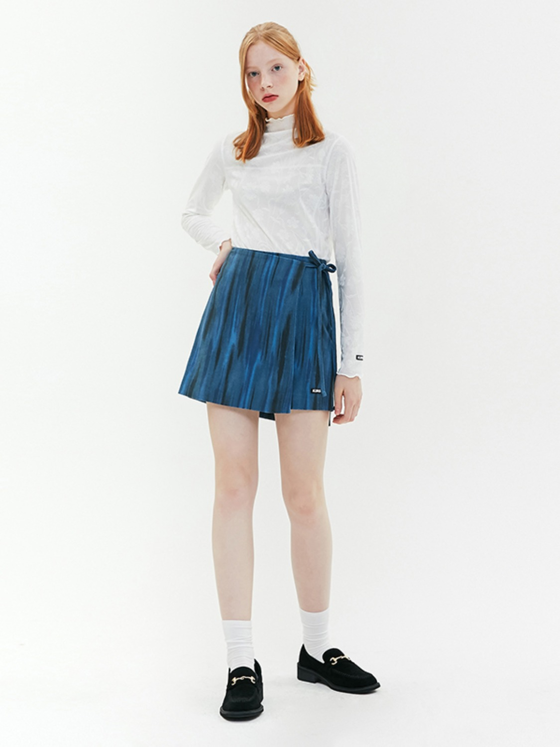 WATER-COLOR WRAP SKIRT JA [BLUE]