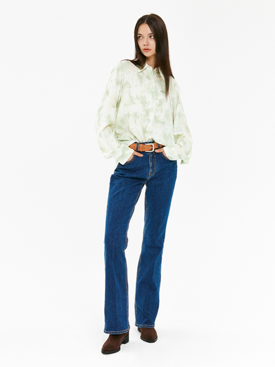 DENIM BOOTCUT PANTS JA [BLUE]