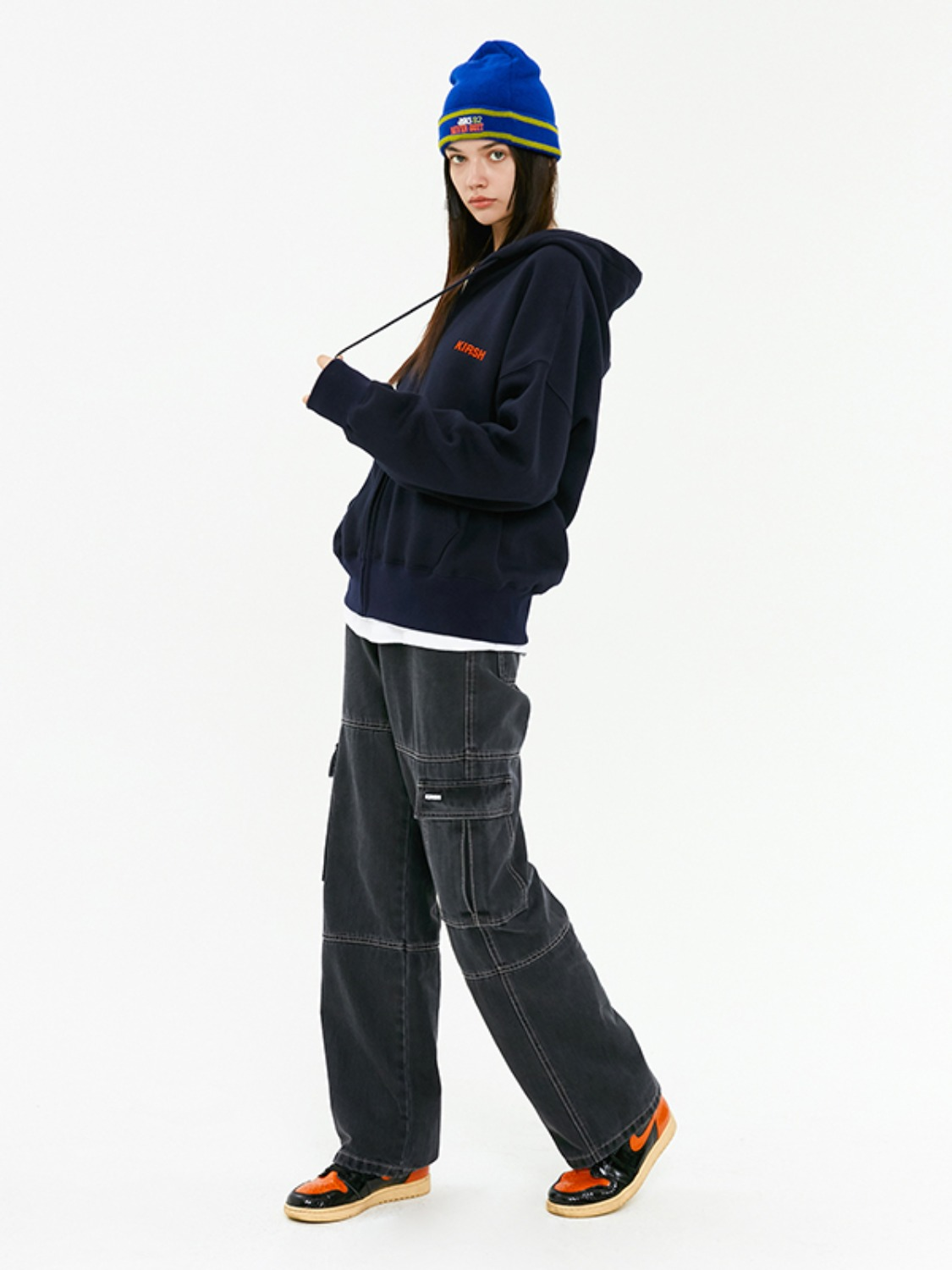 DENIM CARGO PANTS JA [BLACK]