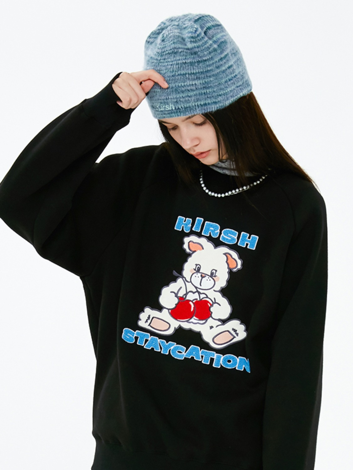 WITTY BUNNY SWEATSHIRT JA [BLACK]