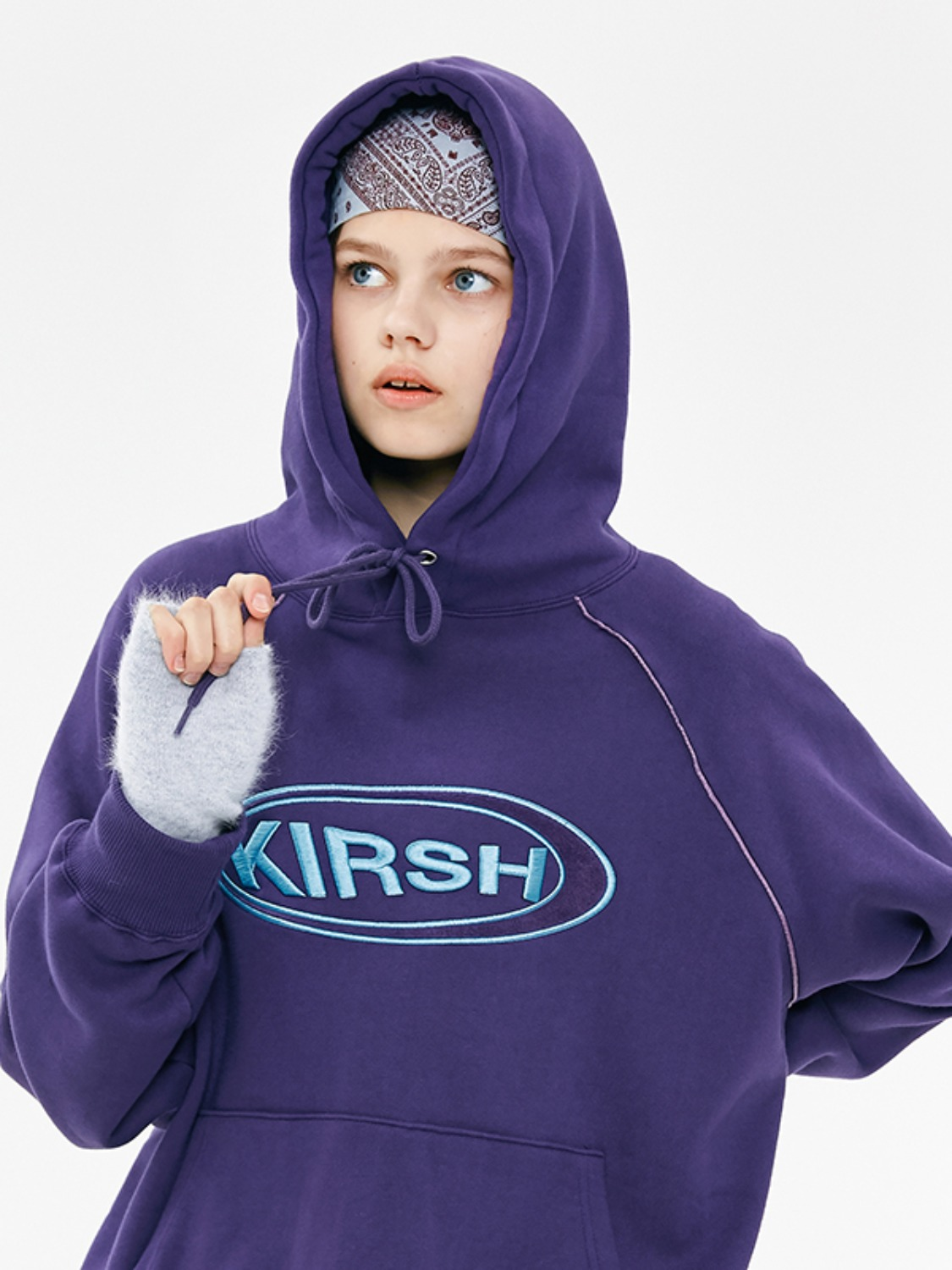 CIRCLE LOGO HOODIE JA [DARK PURPLE]