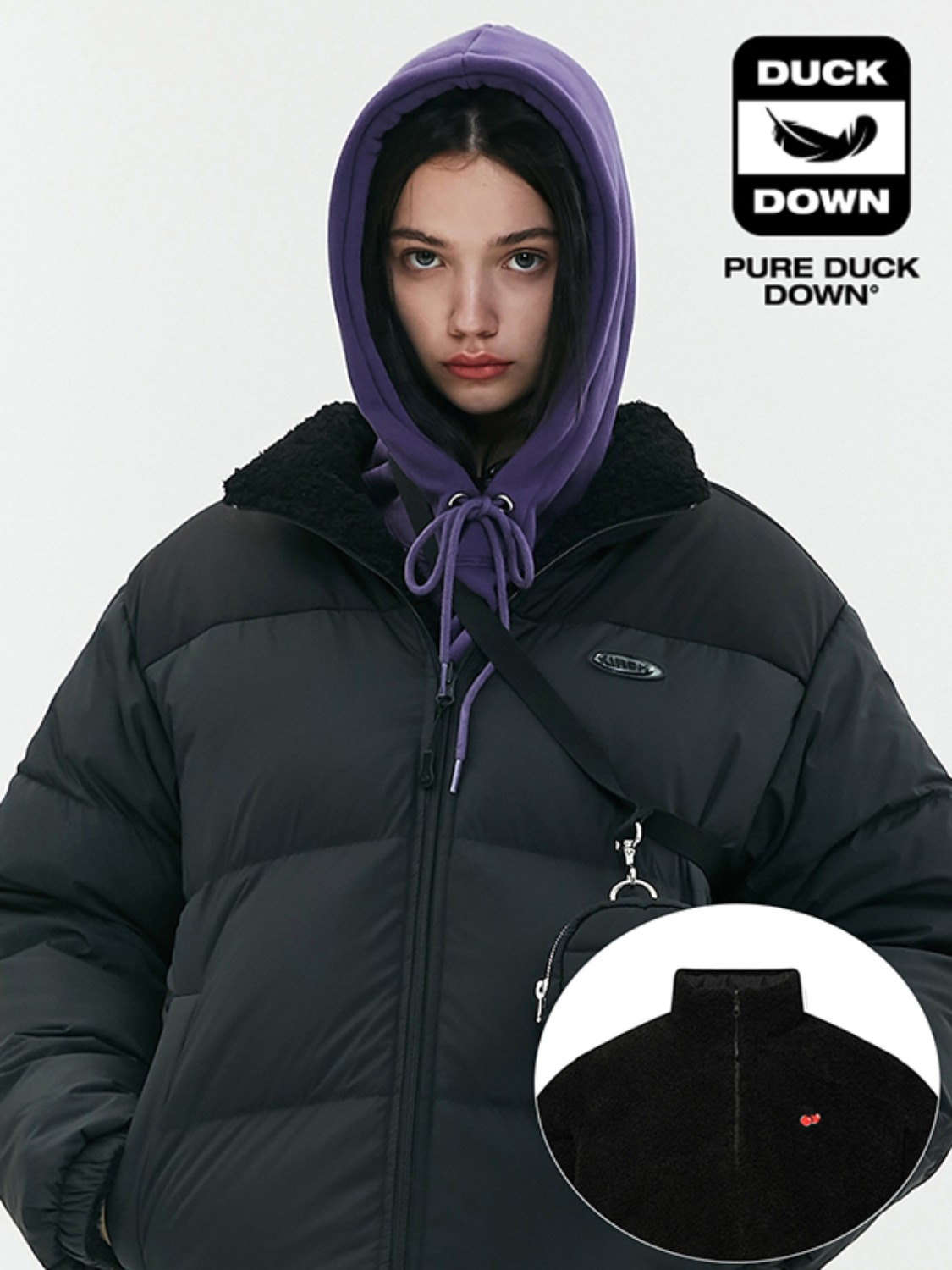 REVERSIBLE FLEECE NUPTSE PADDING JA [BLACK]