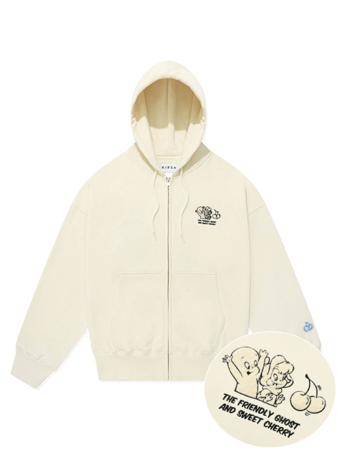 CASPER GRAPHIC HOODIE ZIP UP [IVORY]