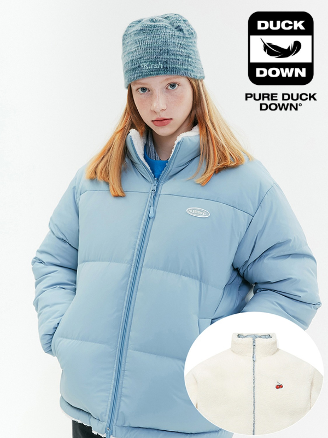 REVERSIBLE FLEECE NUPTSE PADDING JA [LIGHT BLUE]
