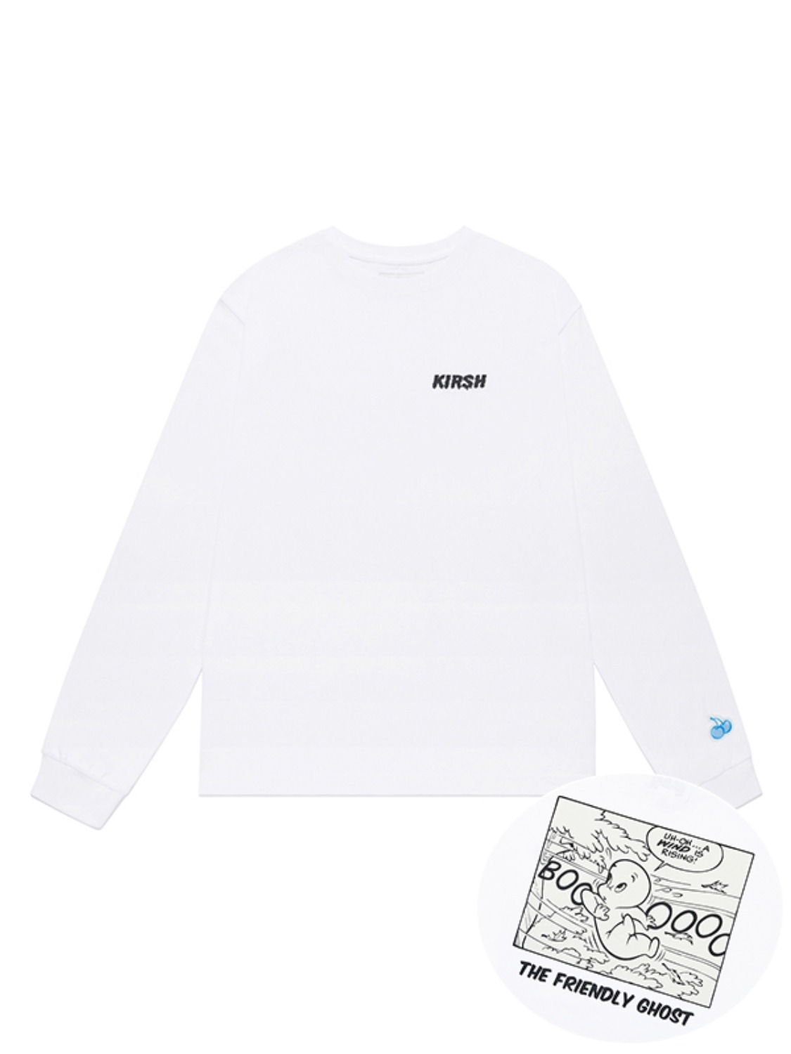 CASPER CARTOON LONG SLEEVE T-SHIRT JA [WHITE]