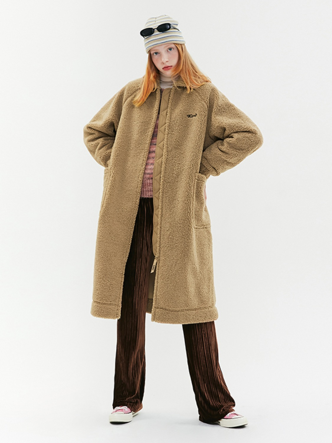 LONG FLEECE JUMPER JA [BEIGE]