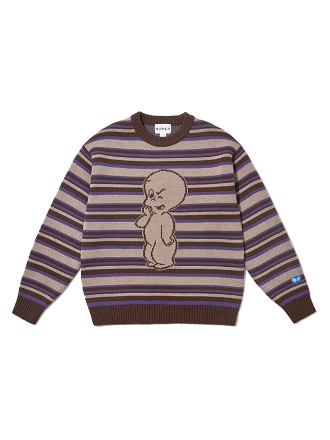 CASPER STRIPE KNIT JA [BROWN]