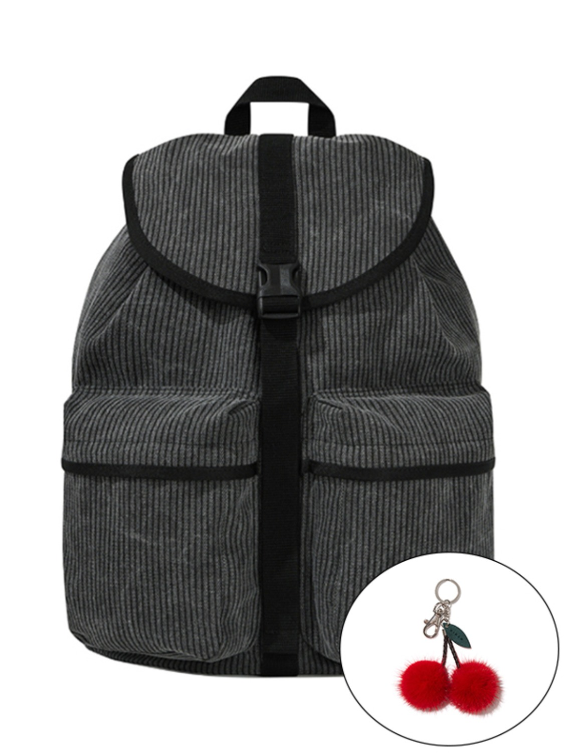 KIRSH POCKET VINTAGE BACKPACK KS [BLACK]