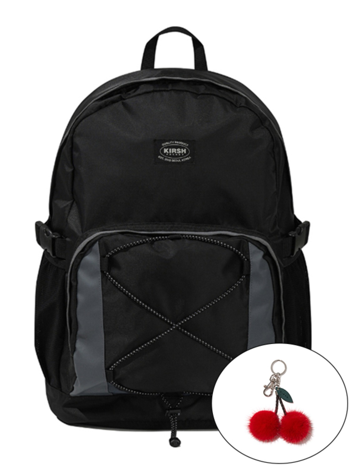 KIRSH POCKET COLOR BLOCKING BACKPACK KS [BLACK]