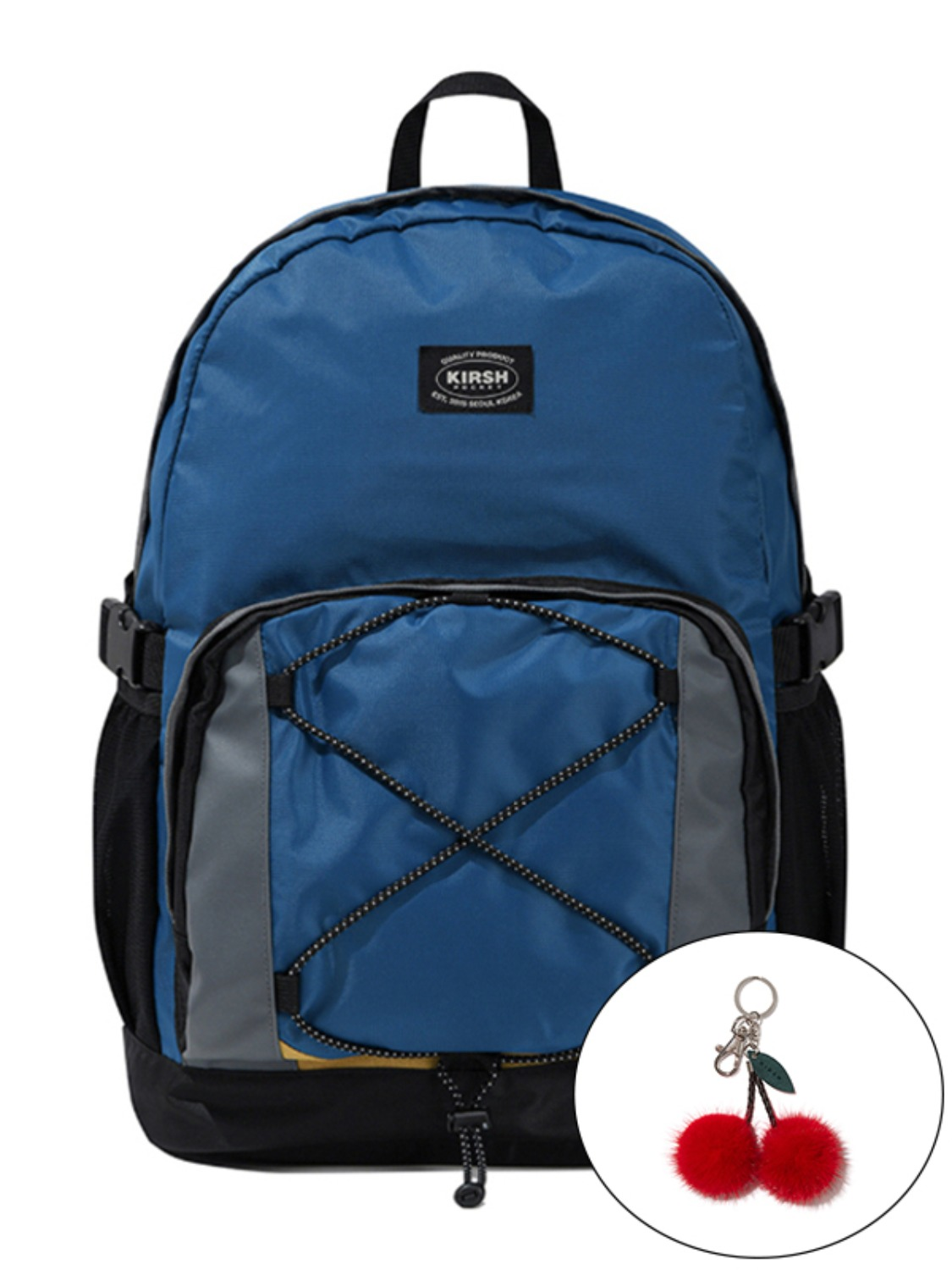 KIRSH POCKET COLOR BLOCKING BACKPACK KS [BLUE]