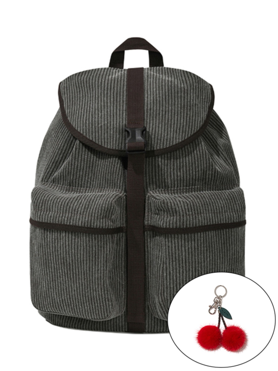 KIRSH POCKET VINTAGE BACKPACK KS [BROWN]