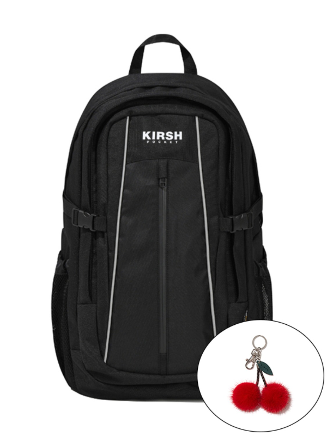 KIRSH POCKET PIPING BACKPACK KS [BLACK]