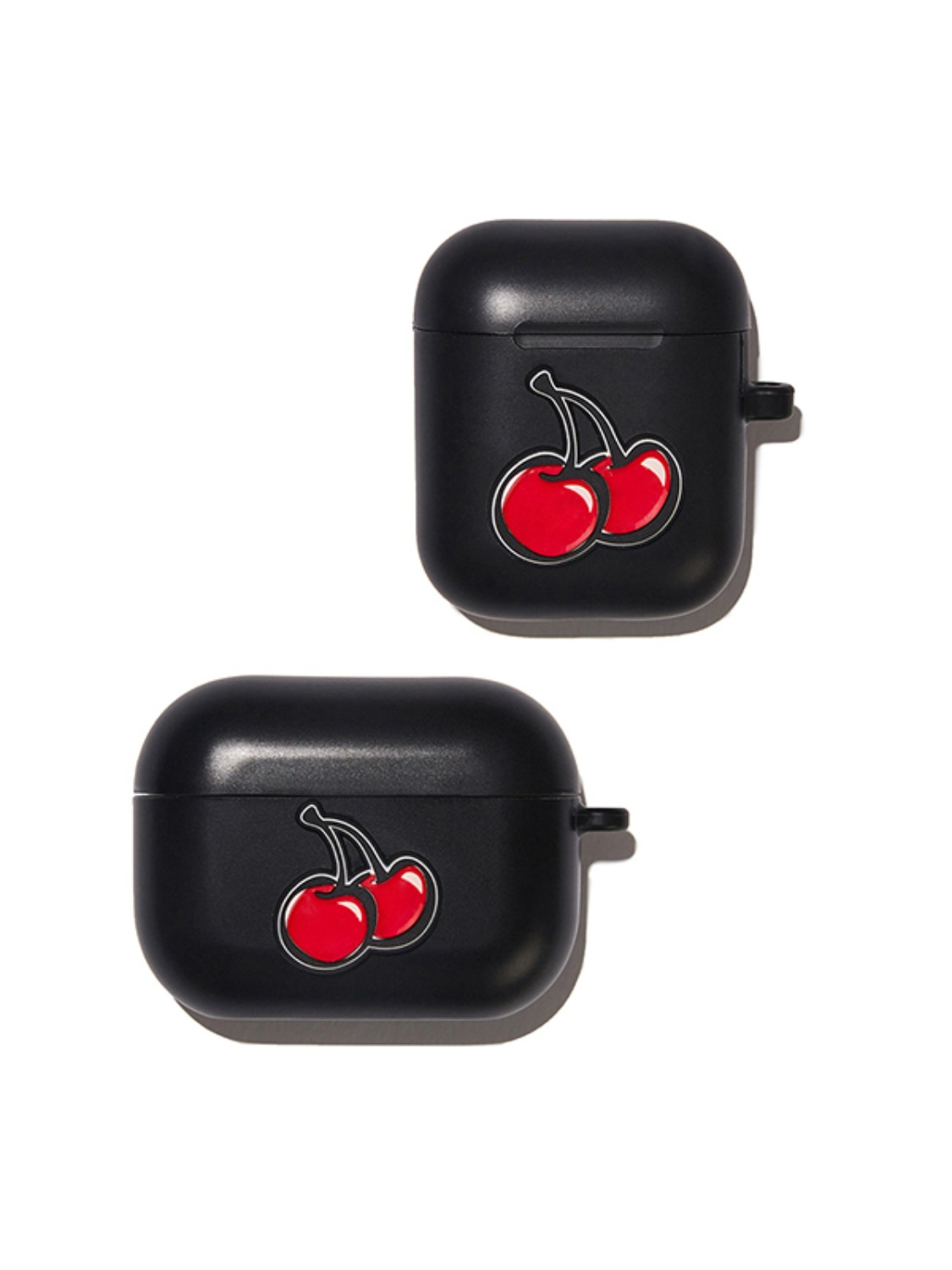 3D BIG CHERRY AIRPODS CASE KS [BLACK]