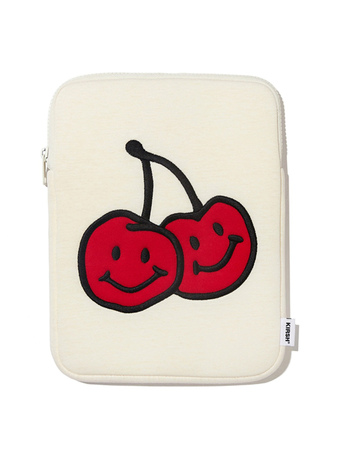 DOODLE CHERRY IPAD POUCH KS [IVORY]
