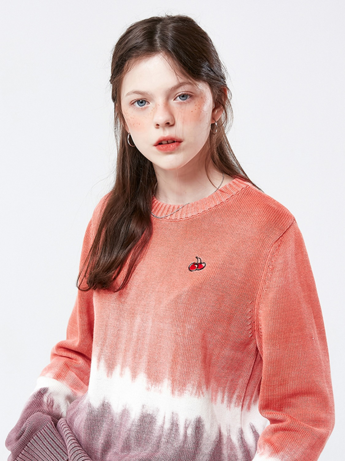 SMALL CHERRY TIE DYE KNIT KS [CORAL]