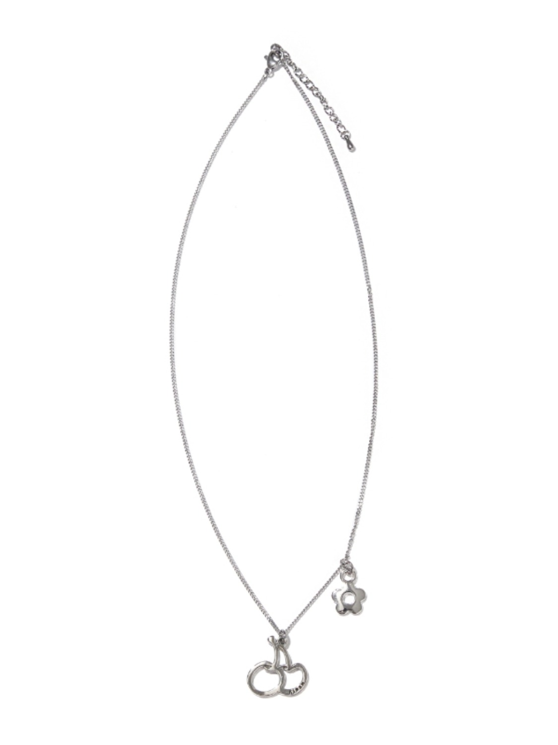 BIG CHERRY PENDANT NECKLACE KS [SILVER]