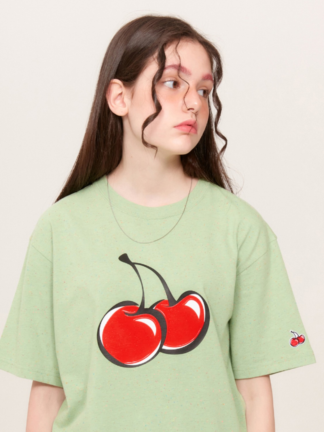 BIG CHERRY JELLY T-SHIRT KS [LIME] / 송강 포토 카드 증정